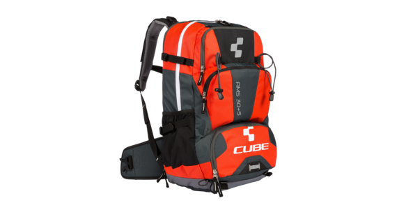 Cube AMS 30+5 Rucksack black'n'flashred